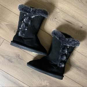 Bearpaw faux fur tall boots